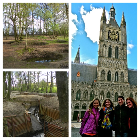 Scars of trenches & shells amongst Ieper's beauty