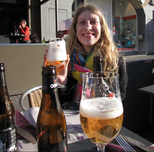 A 'traditional blonde' in Ieper, Belgium