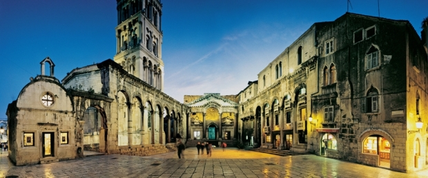 Peristil Square in Split, Croatia
