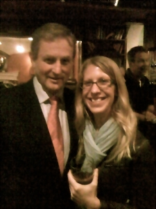 Sharing a Guinness with Ireland's Prime Minister, Enda Kenny